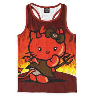Майка борцовка мужская Hello Kitty (924)