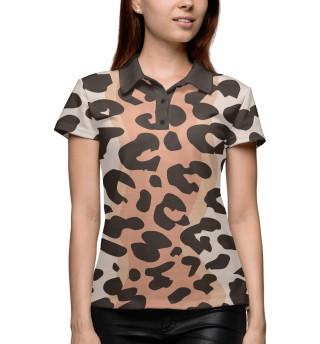 Поло женское Леопард (4355)