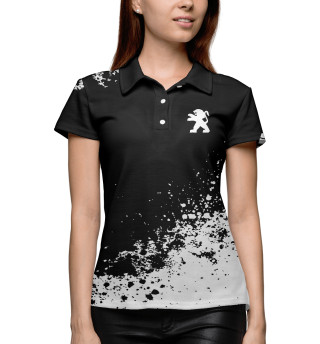 Поло женское Peugeot abstract sport uniform