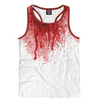 Майка борцовка мужская Кровь