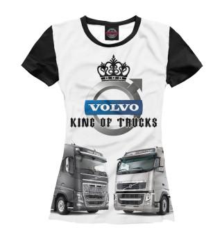 Футболка женская VOLVO - король грузовиков