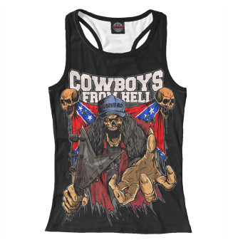 Майка борцовка женская Cowboys From Hell