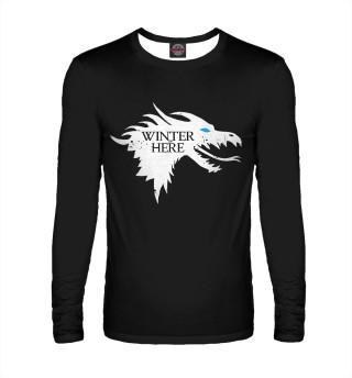 Лонгслив  мужской Winter is here