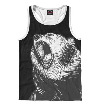 Майка борцовка мужская Медведь (8021)
