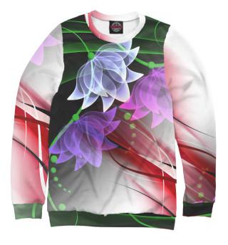 Одежда с принтом Цветочная абстракция