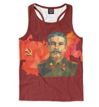 Майка борцовка мужская Сталин (5714)