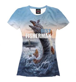 Футболка женская Best fishermen (9594)
