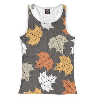 Майка борцовка женская Осенние листья (5180)