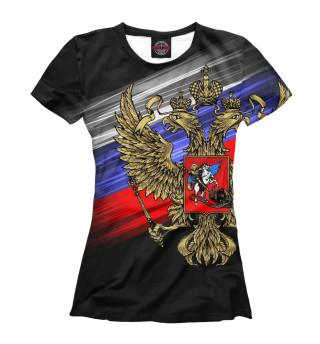 Футболка женская Герб России