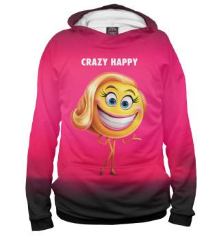 Худи женское Crazy Happy