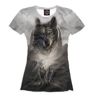 Футболка женская Волки (6132)