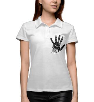 Поло женское Placebo hand black