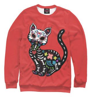 Одежда с принтом Calavera Cat