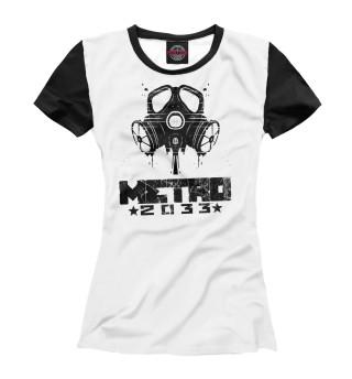 Футболка женская Metro 2033 black l