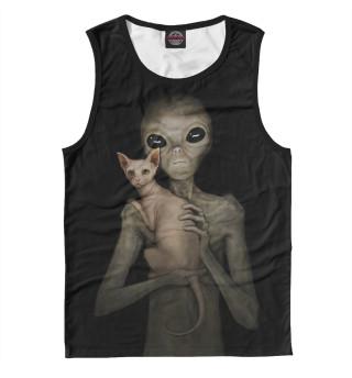 Майка мужская Инопланетянин со сфинксом