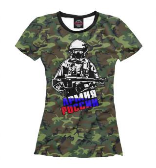 Футболка женская Армия России (3147)