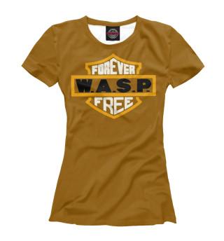 Футболка женская W.A.S.P. band (7407)