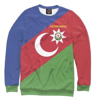 Одежда с принтом Azerbaijan - герб и флаг