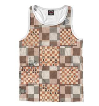 Майка борцовка мужская Шахматная доска (9860)