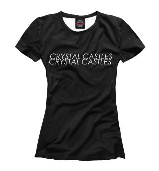 Футболка женская Crystal Castles Logo