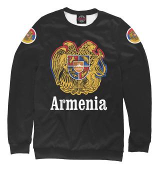 Свитшот, Футболка, Майка, Майка борцовка, Худи, Лонгслив  Герб Армении (649196)