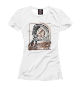 Футболка женская Гагарин (498)