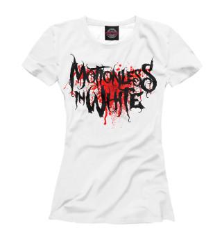 Футболка женская Motionless In White Blood Logo
