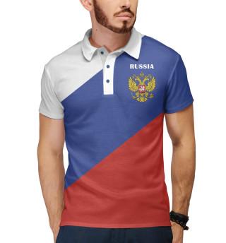 Поло мужское Триколор России