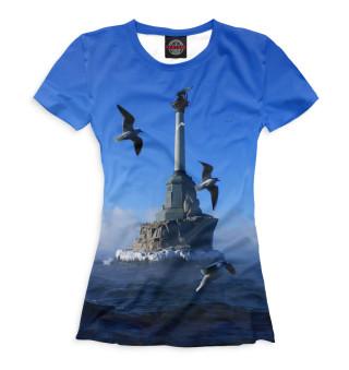 Футболка женская Памятник затопленным кораблям