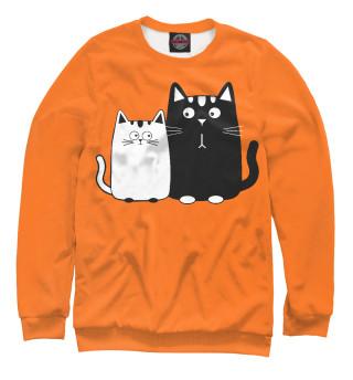 Одежда с принтом Влюбленные котики