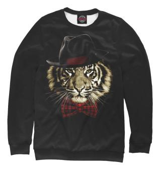 Одежда с принтом Тигр с бабочкой