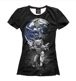 Футболка женская Космонавт (5829)