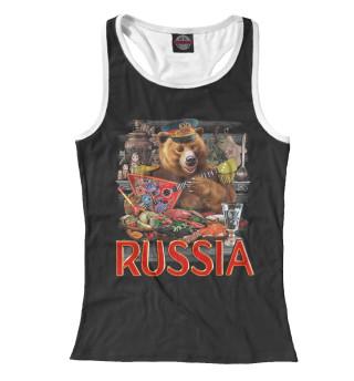 Майка борцовка женская Русский Медведь (749)