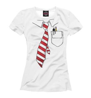Футболка женская Рубашка и галстук