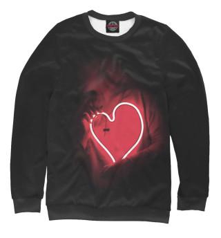 Одежда с принтом Девушка с неоновым сердцем