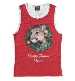 Майка для девочек Happy Puma Year!