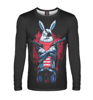 Лонгслив  мужской Кролик с пистолетом