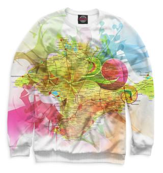 Одежда с принтом Карта Крыма