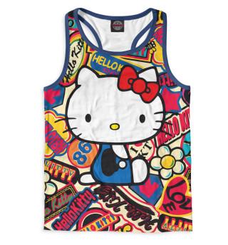 Майка борцовка мужская Hello Kitty (2203)