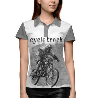 Поло женское Велосипедист