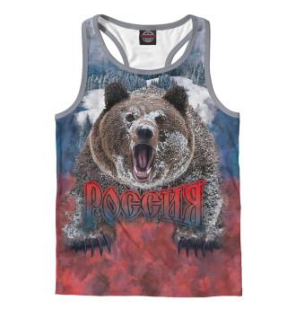 Майка борцовка мужская Русский Медведь (9256)