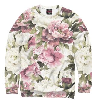 Одежда с принтом Акварель, розы