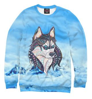 Одежда с принтом Siberian Husky