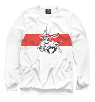 Одежда с принтом Бело-красно-белый флаг