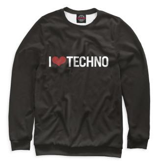 Одежда с принтом I Love Techno (750803)