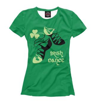 Футболка женская Ireland, Irish dance