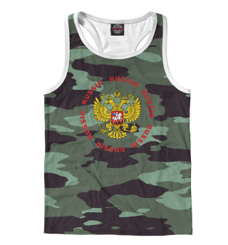 Майка борцовка мужская Герб РФ (933)