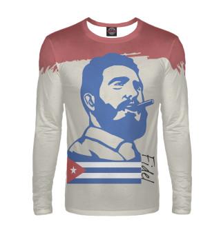 Лонгслив  мужской Фидель Кастро - Куба