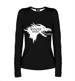 Лонгслив  женский Winter is here