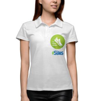 Поло женское The Sims Фитнес